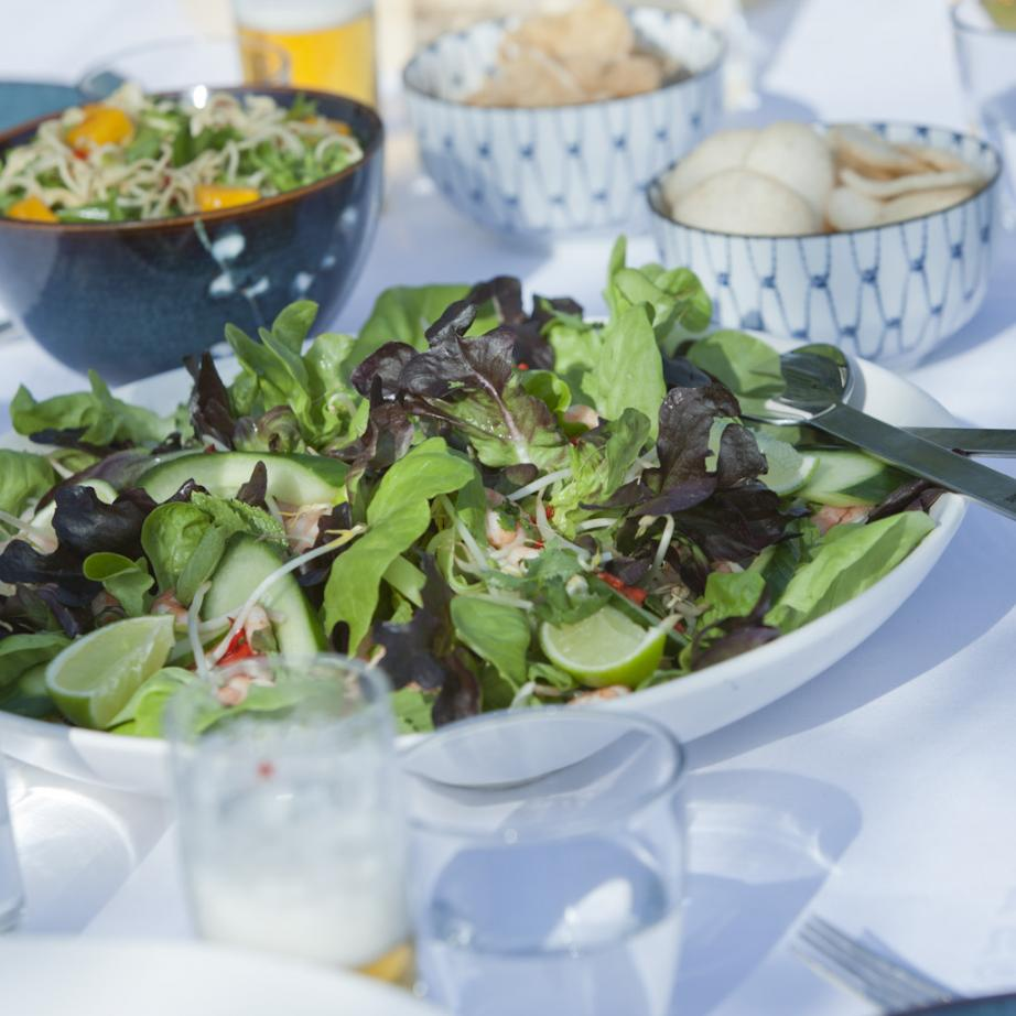 Fresh minty Salanova® Oak and Butter salad